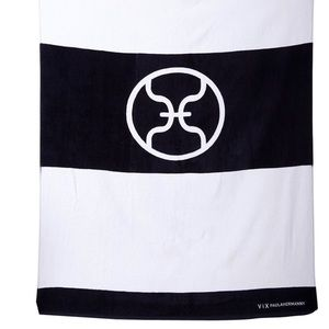 VIX PAULA HERMANNY STRIPE BLACK WHITE TOWEL